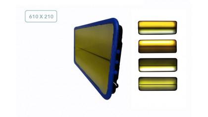 Плафон средний трёхполосный 04078К