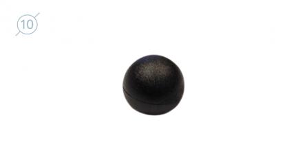 Колпачок круглый из твердой пластмассы 11090