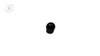 Колпачок сферический из твердой пластмассы.11086