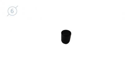 Колпачок сферический из твердой пластмассы.11088