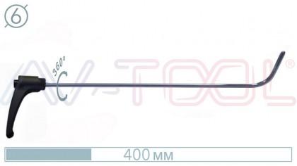 Крючок с поворотной ручкой 10052PR