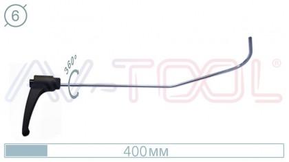 Крючок с поворотной ручкой 09028PR