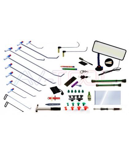 Комплект профессионального PDR инструмента, 62 предмета
